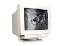 残破的计算机屏幕 免版税图库摄影
