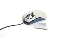 残破的计算机鼠标 库存图片