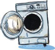 残破的设备洗涤物 免版税库存照片
