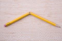 残破的铅笔 免版税图库摄影