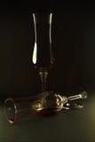残破的饮料玻璃 免版税图库摄影