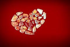 残破的crystall火焰重点红色 库存图片
