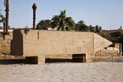 残破的karnak方尖碑 库存图片