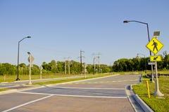残缺不全的环形交通枢纽路 免版税库存图片