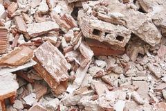 残骸撤除  建筑废物 大厦爆破 deva 免版税库存照片