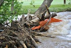 洪水残骸 库存照片