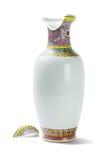 残破的中国陶瓷花瓶 库存照片