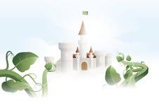 残暴的人城堡关闭 免版税库存图片
