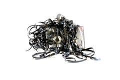 残破的卡式磁带 库存图片