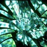 残破的坏的玻璃 库存照片