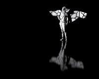 残破的天使雕象 免版税库存照片