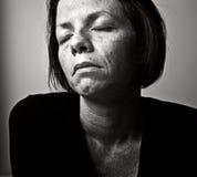 残破的妇女 免版税图库摄影