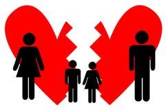 残破的婚姻 免版税库存图片