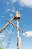残破的帆柱 免版税库存图片