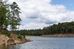 残破的弓湖俄克拉何马 图库摄影