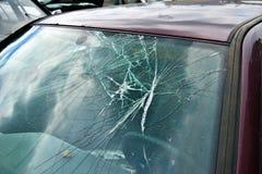 残破的挡风玻璃 免版税图库摄影