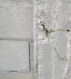 残破的柱子混凝土墙 免版税图库摄影