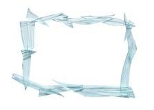 残破的框架玻璃 免版税图库摄影