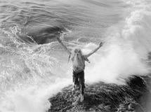 残暴的海(所有人被描述不更长生存,并且庄园不存在 供应商保单将没有式样relea 图库摄影