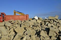 残破的混凝土建筑块 免版税图库摄影