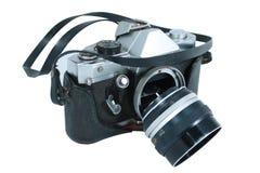 残破的照相机 免版税库存照片