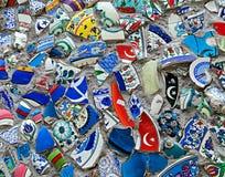 残破的瓦片墙壁马赛克在土耳其 库存照片