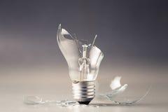 残破的电灯泡光 免版税库存图片