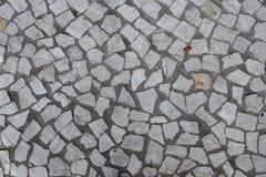 残破的砖地纹理 库存照片