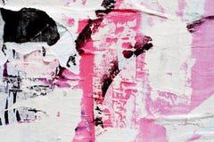 残破的纸纹理在墙壁的 库存图片