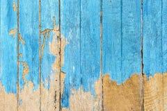 残破的蓝色门 免版税库存照片