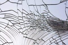 残破的被打碎的镜子 免版税库存图片