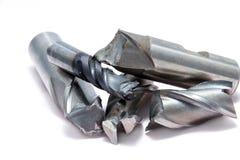 残破的金属磨房工具 图库摄影