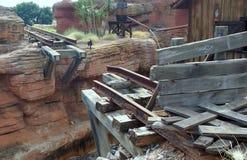 残破的铁路 库存照片