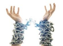 残破的链子 免版税图库摄影