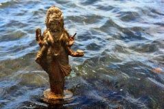 残破的雕象在毛里求斯 免版税库存照片