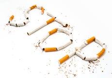 残破的香烟概念抽烟的终止 库存图片