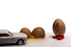 残破的鸡蛋 图库摄影