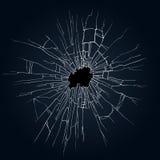残破的玻璃例证 免版税库存照片