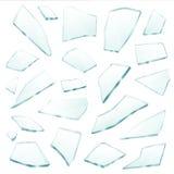 残破的玻璃分割碎片现实集合 向量例证