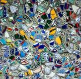 残破的玻璃残骸背景,设计在伊斯坦布尔 免版税库存照片