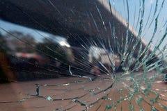 残破的玻璃特写镜头 库存照片