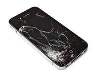 残破的iphone 库存照片