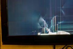 残破的LCD电视 免版税库存图片