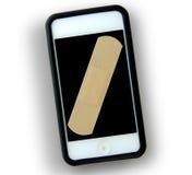 残破的MP3播放器智能手机 免版税库存照片