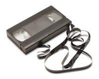 残破的VHS磁带 免版税库存照片