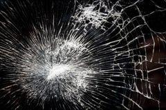 残破,被打碎的玻璃 免版税库存图片