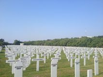 殖民地公墓在北部雅加达 库存图片