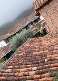 殖民地土气屋顶 库存照片