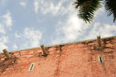殖民地墨西哥教会门面 免版税库存图片