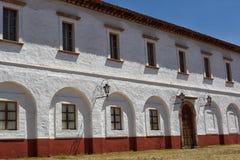 殖民地大厦在Patzcuaro墨西哥 免版税库存照片
